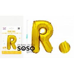 Palloncino mylar oro lettera r h.40cm - 1