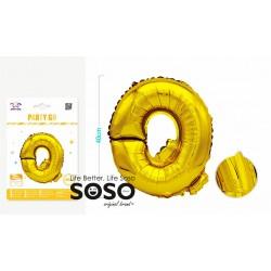 Palloncino mylar oro lettera q h.40cm - 1