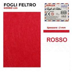 Foglio Feltro Rosso 3mm 60x40cm