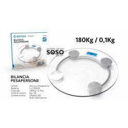Bilancia pesapersone rotondo 180kg/0.1kg max in vetro - 1