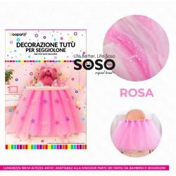 Decorazione tutù per seggiolino rosa 80x40cm - 1